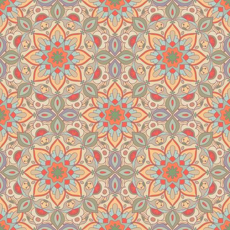 Seamless pattern. Decorative pattern in beautiful colors. Vector illustration Illustration