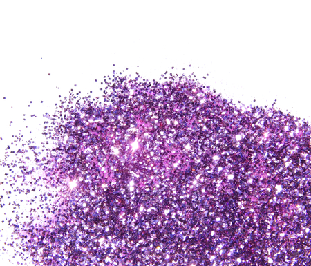 Purple glitter sparkle on white background