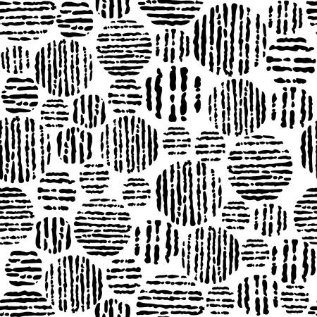 Abstract seamless pattern dans les couleurs noir et blanc, illustration vectorielle.
