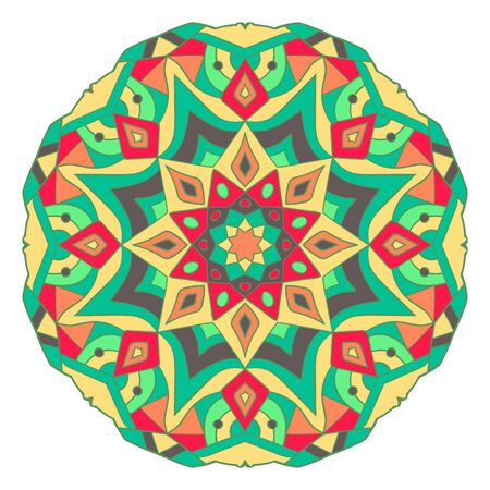 Mandala in beautiful colors. Decorative ethnic vector ornament. You can easy change the color in the vector editor
