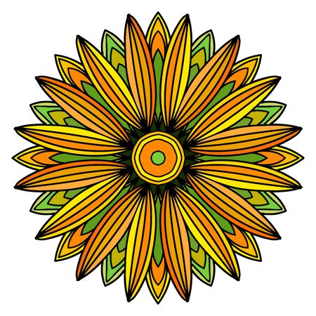Flower in beautiful colors on white background. Vector illustration for your design