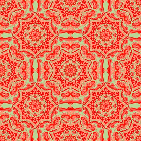Patrones sin fisuras con mandalas en hermosos colores. Vector de fondo