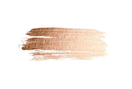 Mancha de acuarela rosa oro abstracto
