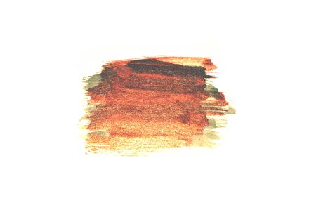 Abstract golden and black watercolor stains on white background for your design Stock Photo