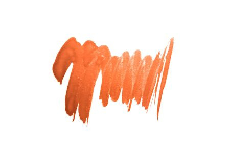 Abstract orange watercolor stain on white background for your design
