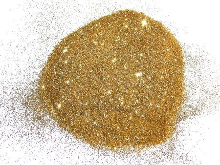 Textured background with golden sparkle glitter on white Stock Photo