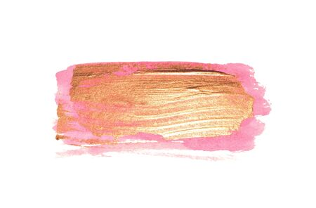 Abstract white and pink watercolor stains on white for your design.