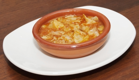 tripe: Typical spanish food of tripe with chickpeas Stock Photo