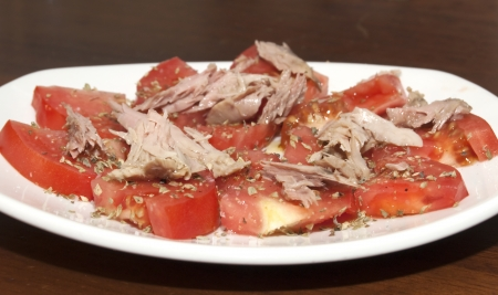 Mackerel and Tomato Salad photo