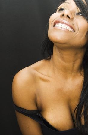 femme noir sexy: Femme sexy noir sur noir