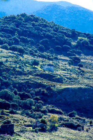 Mountain landscape with isolated houses