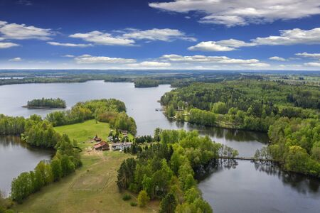 sunny spring day on the Masurian lakes