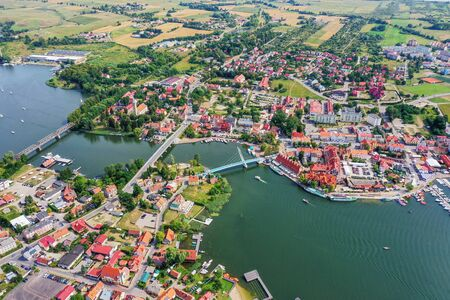 Miko?ajki - the city of Mazury in north-eastern Poland Zdjęcie Seryjne