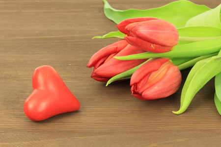 Red tulips Stock Photo - 39288173