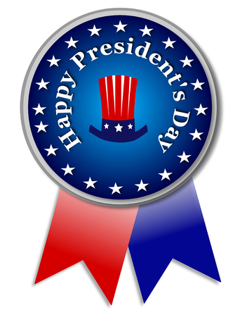 Presidents day blue banner Stock Photo