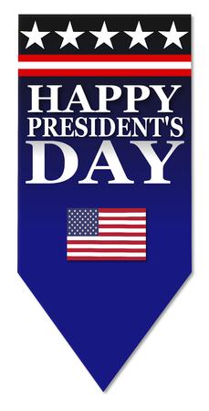 presidents: Presidents day blue banner Stock Photo