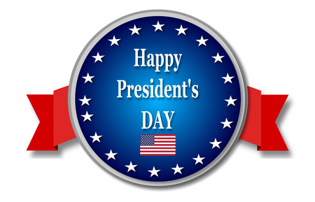 presidents day: Presidents day blue banner Stock Photo