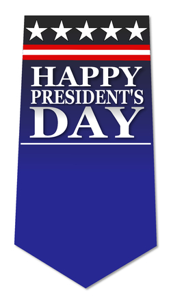 president's day: Presidents day blue banner Stock Photo