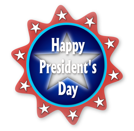 president's day: Presidents day blue baner Stock Photo