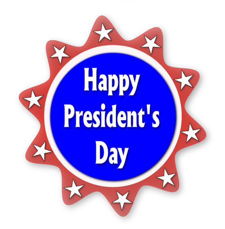 Presidents day blue baner Stock Photo