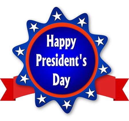 presidents day: Presidents day blue baner Stock Photo