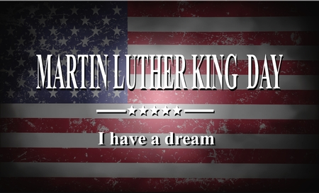 Martin Luther King Day American flag  and hands illustration Stock Illustration - 69863584