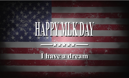 Martin Luther King Day American flag  and hands illustration Stock Illustration - 70520307