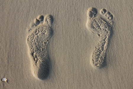 Footprints in the sand Stock Photo - 84342664