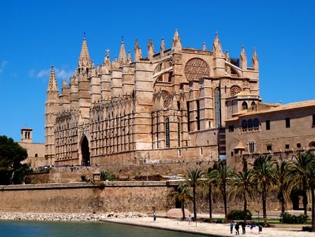 palma: La Seu, cathedrale in Palma de Mallorca, spain, europe Stock Photo