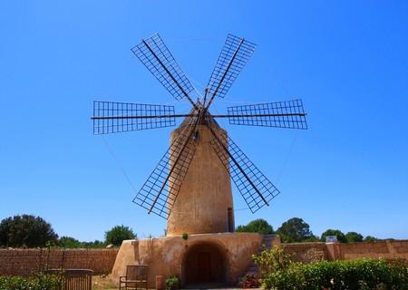 traditional windmill: traditional windmill in algaida, mallorca