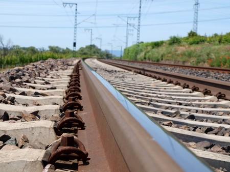 u bahn:  segmentview on rail Stock Photo