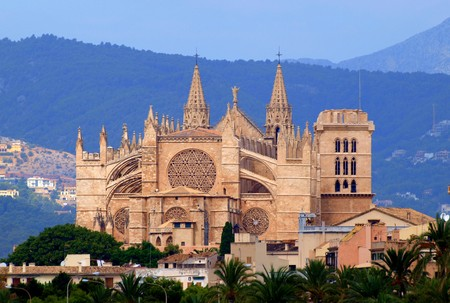 Cathetral La Seu in Palma de Mallorca  Stockfoto