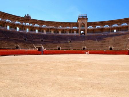 bull fight: view in the arena of the bull fight arena in Palma de Majorca