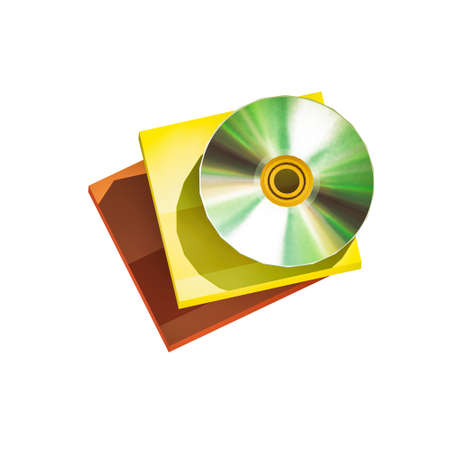 Low poly CD and cases isolated on white background Stock Photo
