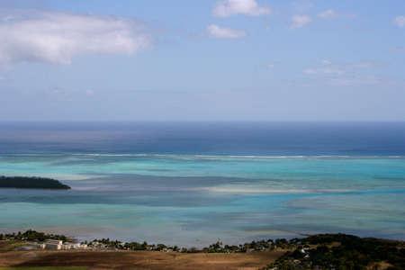 A nice lagoon in Indian osean near the island