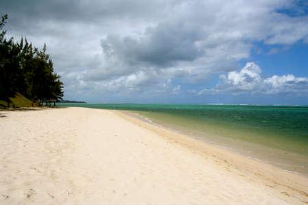 An exotic tropical beach in Mauritus