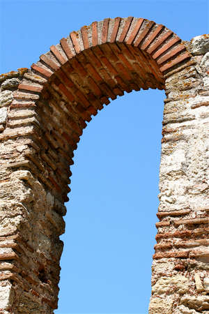 repetitious: An ancient arch having been a part of an old church
