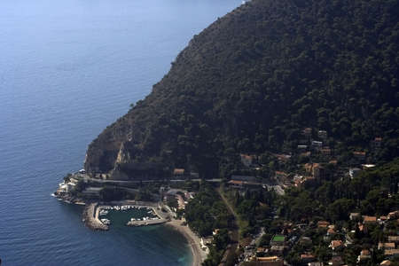 Panoramic picture of bay near the mountain