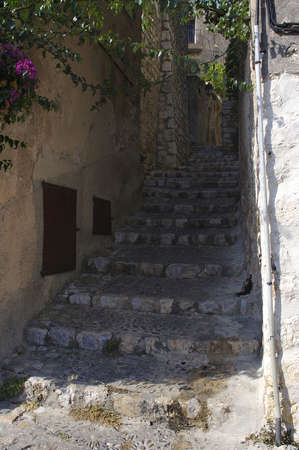 Stair of the narrow medieval street
