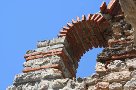 repetitious: Part of brickwork in Bulgaria Stock Photo