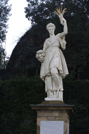 Italian goddess of fertility in Boboli garden photo