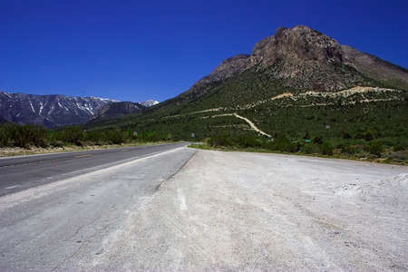 Nobody on the road going among the mountains