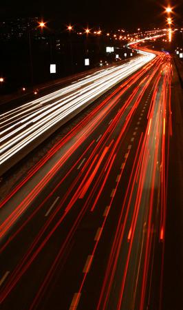 tardiness: Traffic on highway at evening rush hours