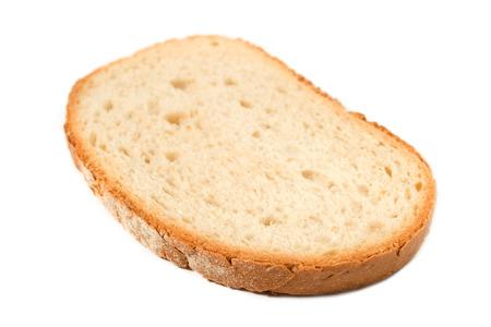 Slice of fresh bread isolated on white background Zdjęcie Seryjne
