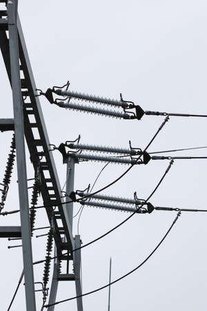 Details of 100 kV transformer power substation located in Poland Stock fotó