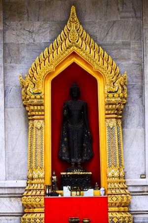 Statue buddha in the space window Stock Photo - 18326542