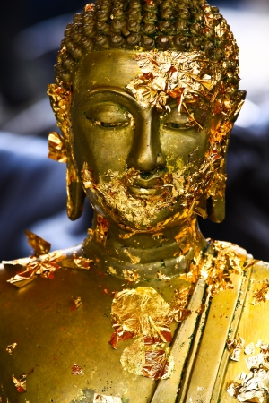 Statue buddha and Gilded Buddha Stock Photo - 18481761