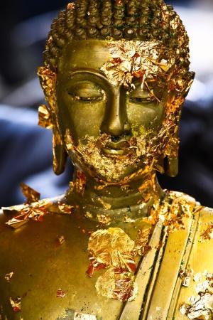 Statue buddha and Gilded Buddha Stock Photo - 18481761