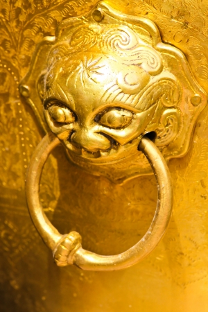 Symbol animal on the door in temple thai style  Stock Photo - 19245106