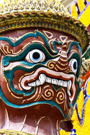 Thai Golden Demon Warrior Stock Photo - 19245131
